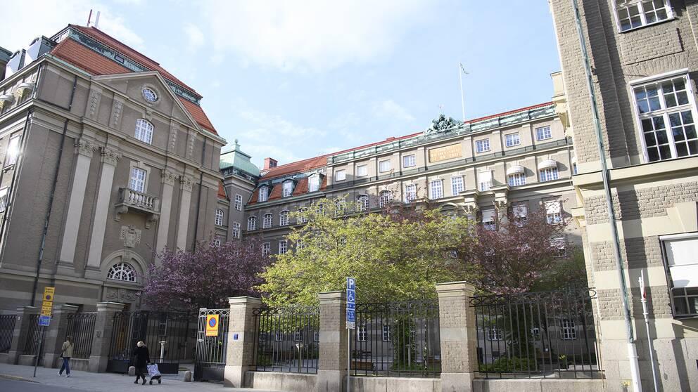Bilden visar Åklagarmyndigheten i gamla Generalitetshuset.