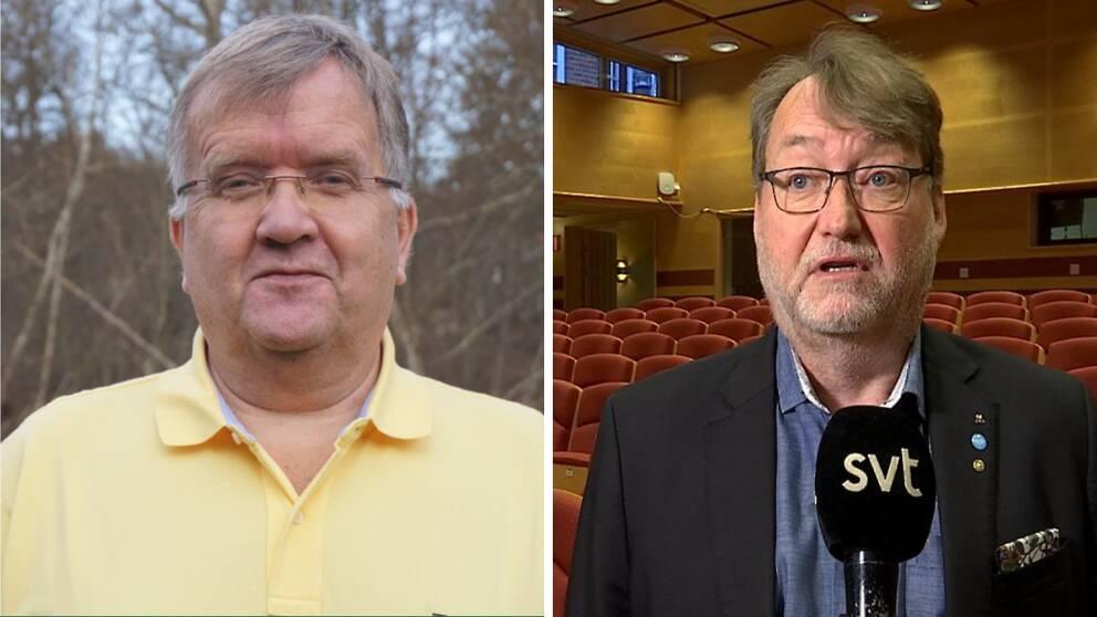 Erik Lindborg, gruppledare för Kristdemokraterna, och Lennarth Förberg (M), regionstyrelsens ordförande.