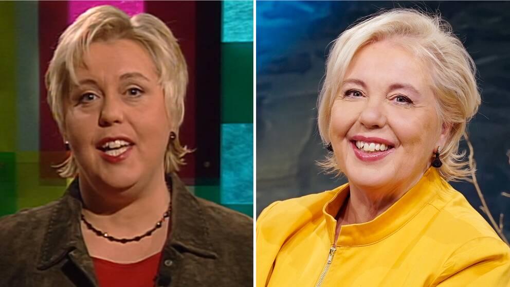 Suzanne Axell i Fråga doktorn 2004 och 2021.