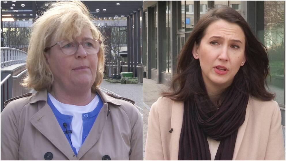 Finansregionrådet Irene Svenonius (M) och regionrådet Aida Hadzialic (S).