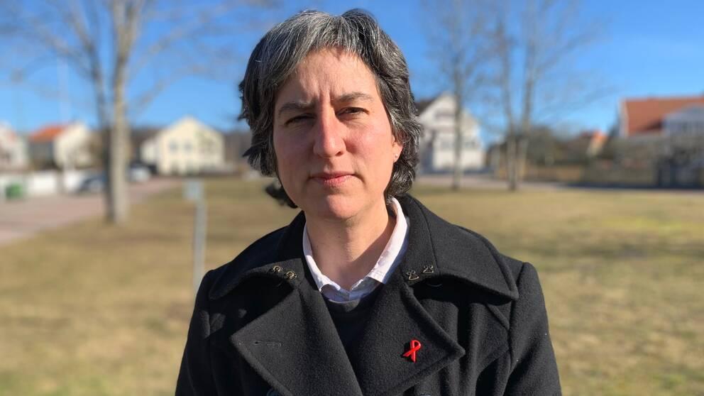 Porträttbild på Lisa Labbé Sandelin, smittskyddsläkare i Region Kalmar län.