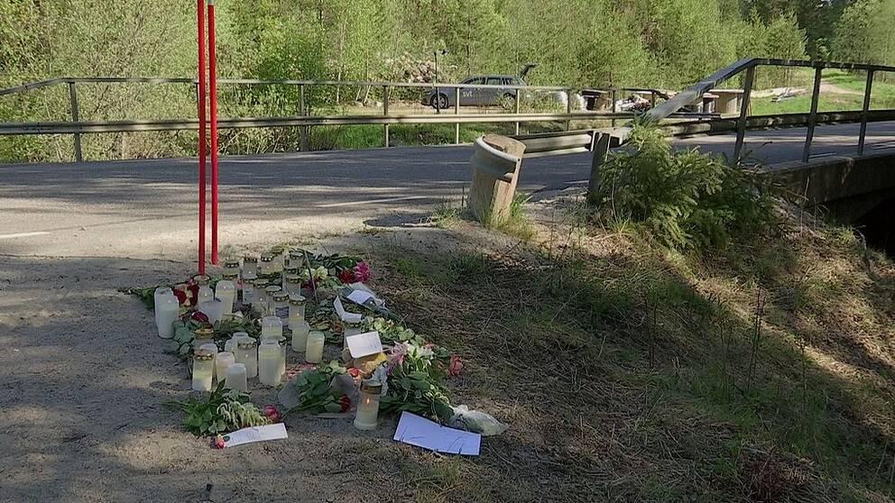 Olycksplatsen i Sörfors.