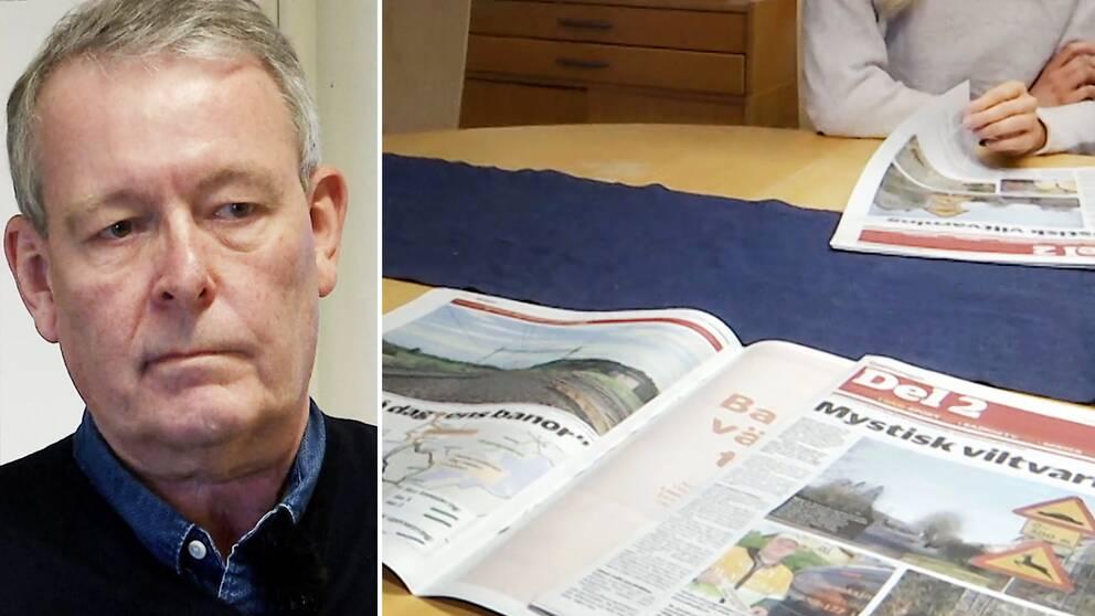 Starta klippet för att höra Dalslänningens chefredaktör Thomas Wallin beskriva den oro han känner iför hur tidningen ska klara den förändrade postutdelningen.