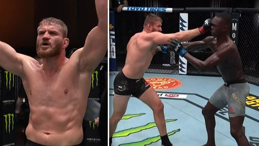 Polacken Jan Blachowicz vann nattens stora titelmatch i lätt tungvikt i UFC mot utmanaren Israel Adesanya.