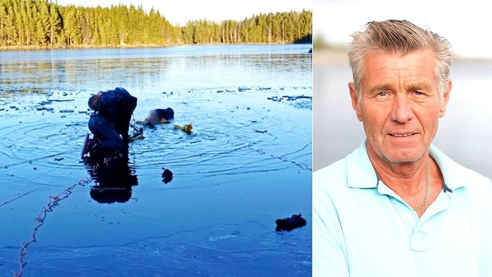 Isräddning och Kurt Näslund, ordförande i Västernorrlands regionförbund, Svenska livräddningssällskapet.