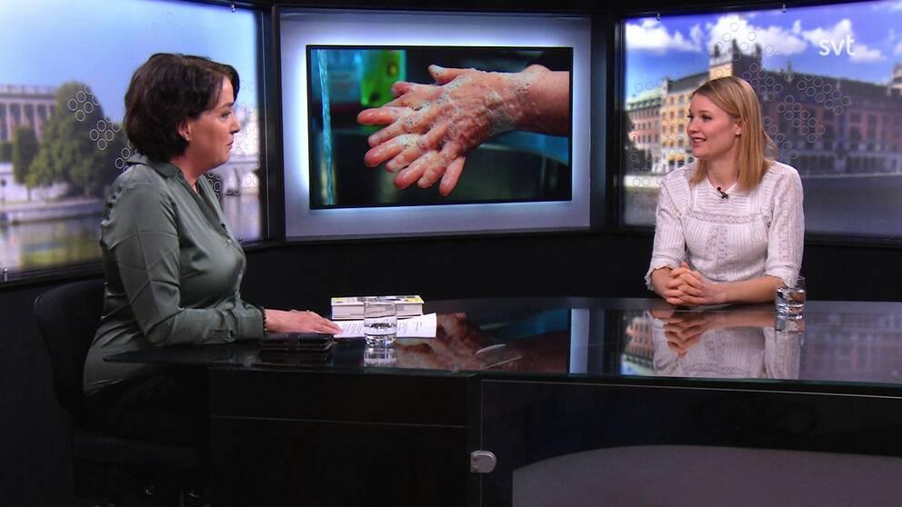 Forskare Emma Frans intervjuas av Sharon Jåma om boken Alla tvättar händerna.