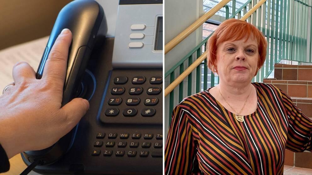 Hör Tina Mansson Söderlund, vaccinsamordnare, berätta om hur man betade av telefonkön till tidbokningen för coronavaccination.