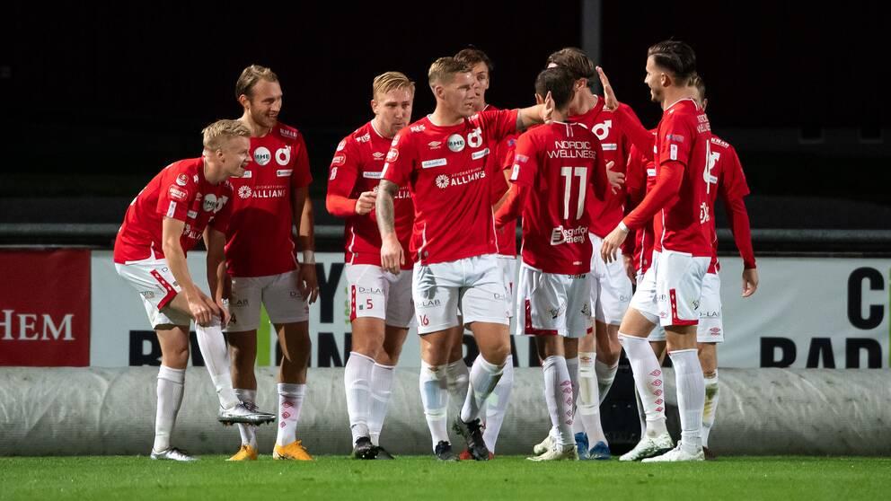 Degerfors, nykomling i fotbollsallsvenskan, spelar kvartsfinal i svenska cupen till helgen. Arkivbild.