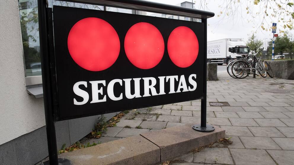 Bilden visar Securitas logga.