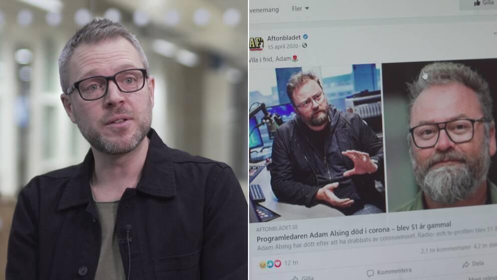 Andreas Widholm, docent i journalistik, säger att forskning visar att det är skillnad på vad vi delar och vad vi läser i sociala medier.