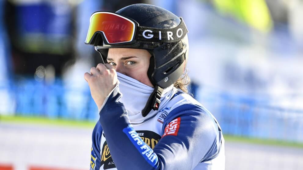 Efter kraschen i Idre, nu är Alexandra Edebos säsong över.