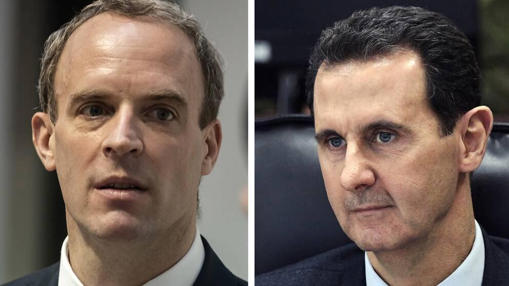 Dominic Raab, Bashar al-Assad