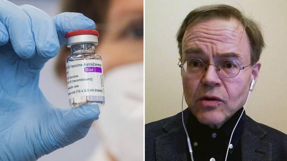 Karl-Mikael Kälkner, säkerhetsexpert på Läkemedelsverket, svarar på frågor om Astra Zenecas vaccin.