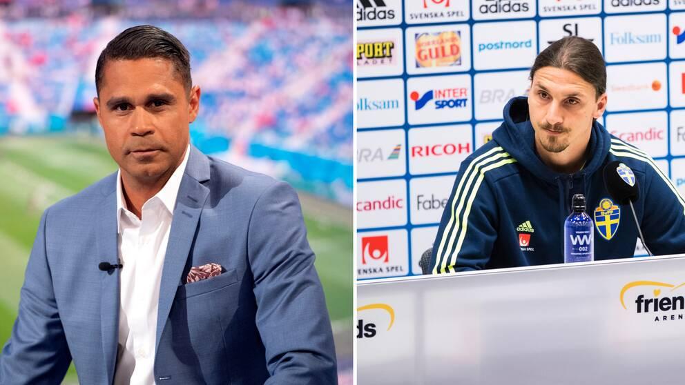 Daniel Nannskog och Zlatan Ibrahimovic.