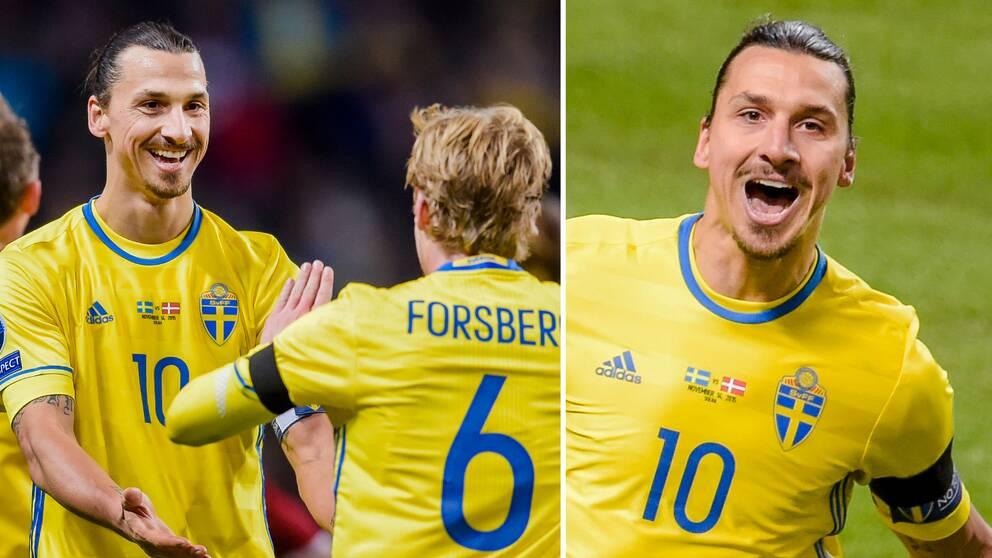 Zlatan Ibrahimovic gör comeback i landslaget.