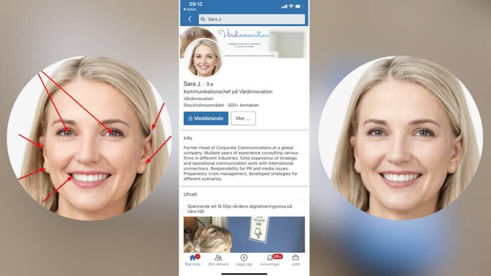 Sara J hade fler än 500 kontakter på bolagets LinkedIn när SVT kontrollerade kontot i mars månad.