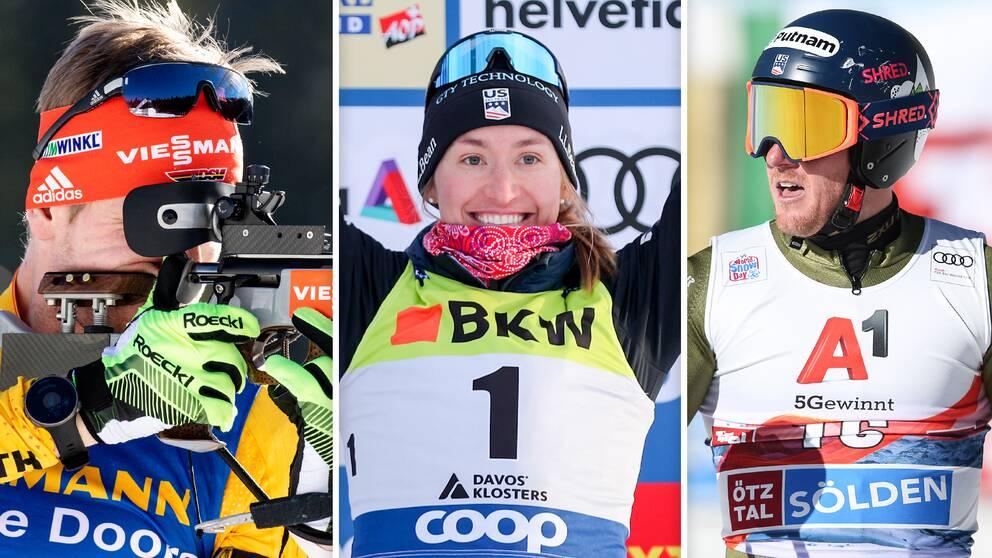 Arnd Peiffer, Sophie Caldwell Hamilton och Ted Ligety är några av vinterprofilerna som nu avslutar karriären.