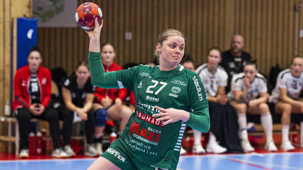 Ulrika Olsson under kvartsfinalen mot Heid i söndags.