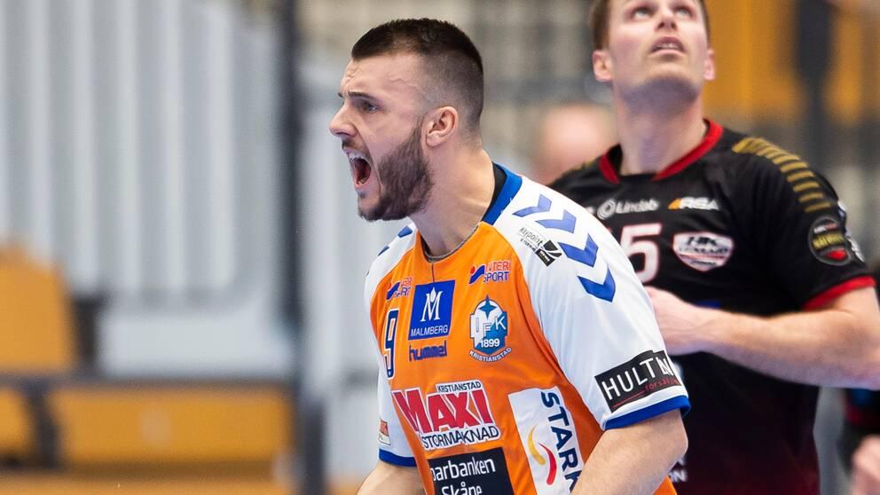 Kristianstads Gregor Ocvirk blev målbäst i returen mot Malmö.