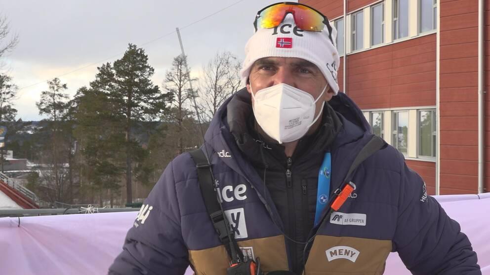 Norska skjuttränaren Seigfried Mazet