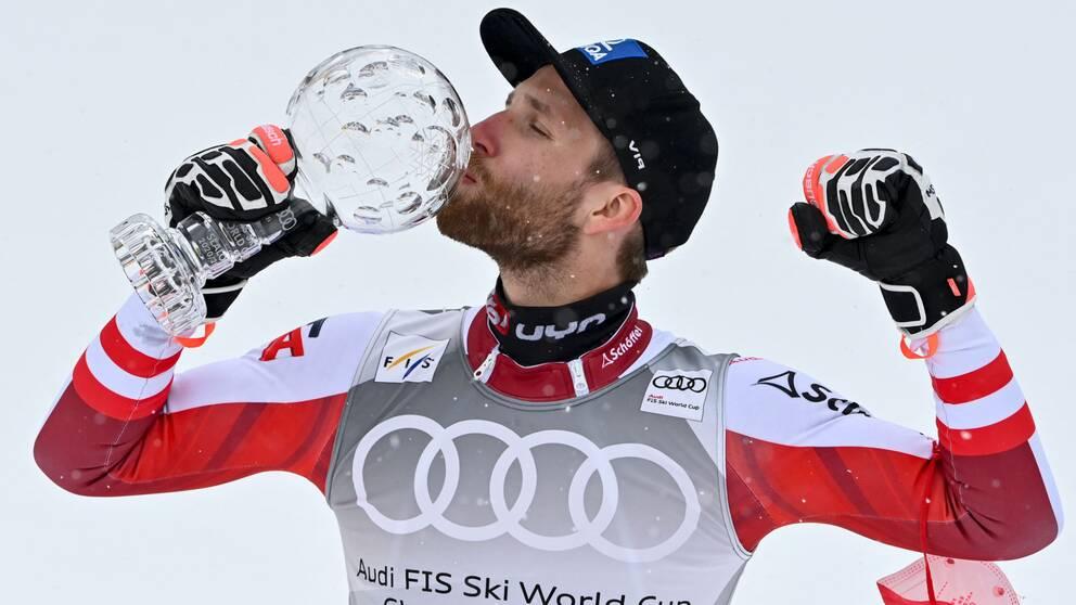 Marco Schwarz hamnade på en sjätteplats i dagens världscupavslutning.