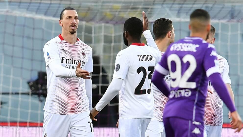 Zlatan Ibrahimovic hittade nätet mot Fiorentina