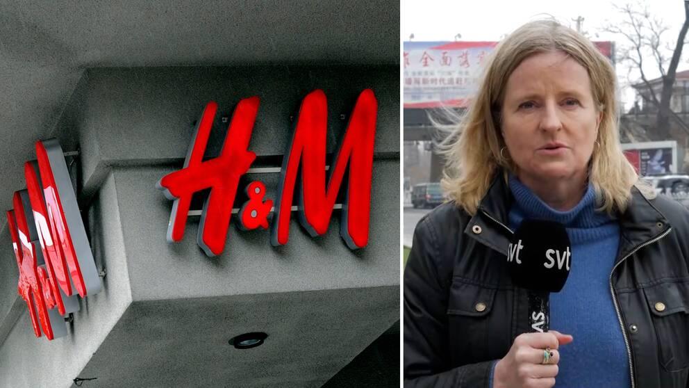 """""""Man har gjort memes där man gör H&M-bokstäverna till kinesiska tecken som betyder nedsättande saker"""", säger Ulrika Bergsten, SVT:s Asienkorrespondent, om de kinesiska nätattackerna mot det svenska bolaget."""