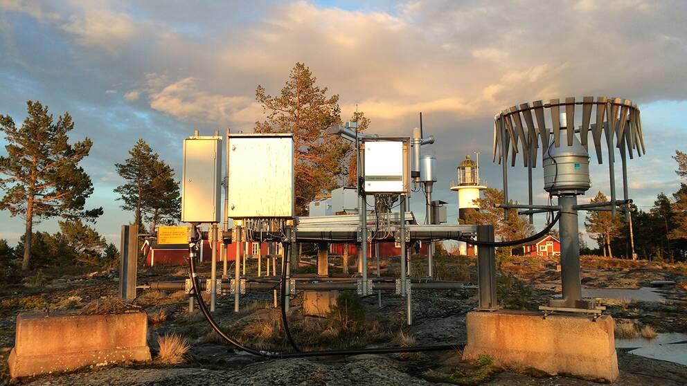 Väderstation som observerar flera väderparametrar.