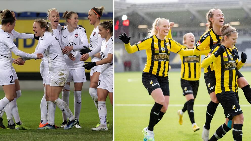 Storlagen Häcken och Rosengård möts i cupsemifinal.