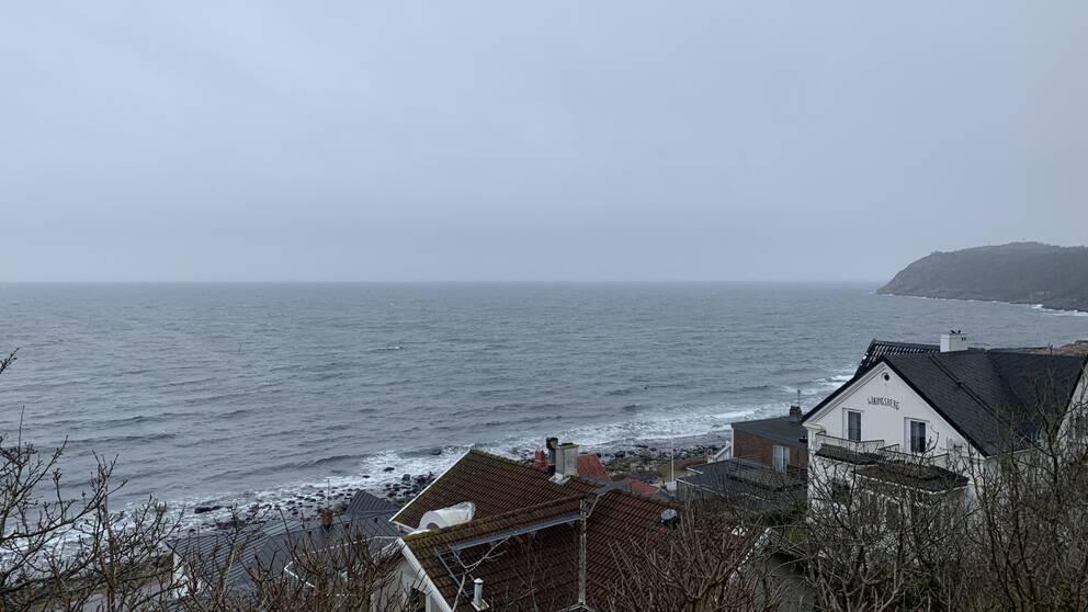 En utsiktsbild över Mölle och havet