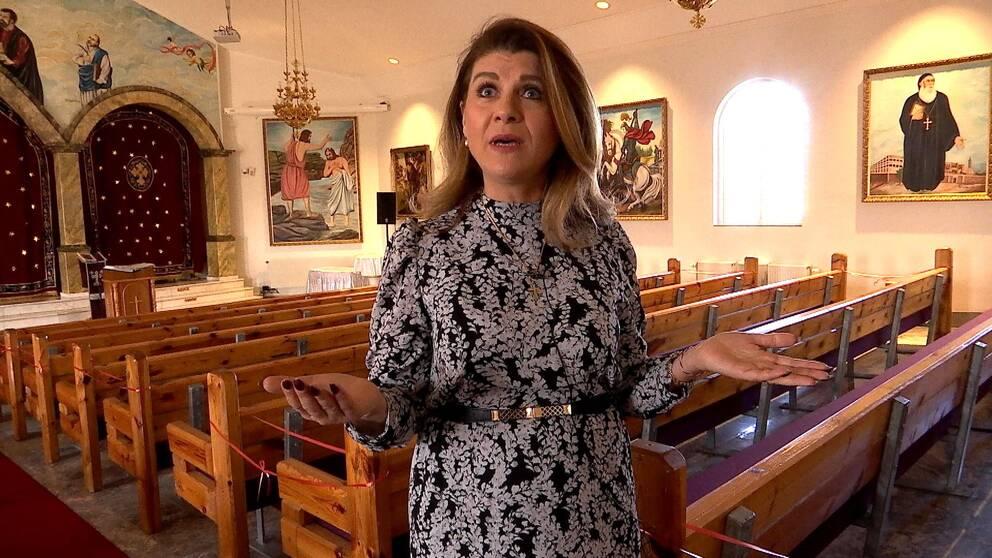 Martina Timurtas ordförande för S:ta Maria syrisk-ortodoxa kyrka i Norrköping