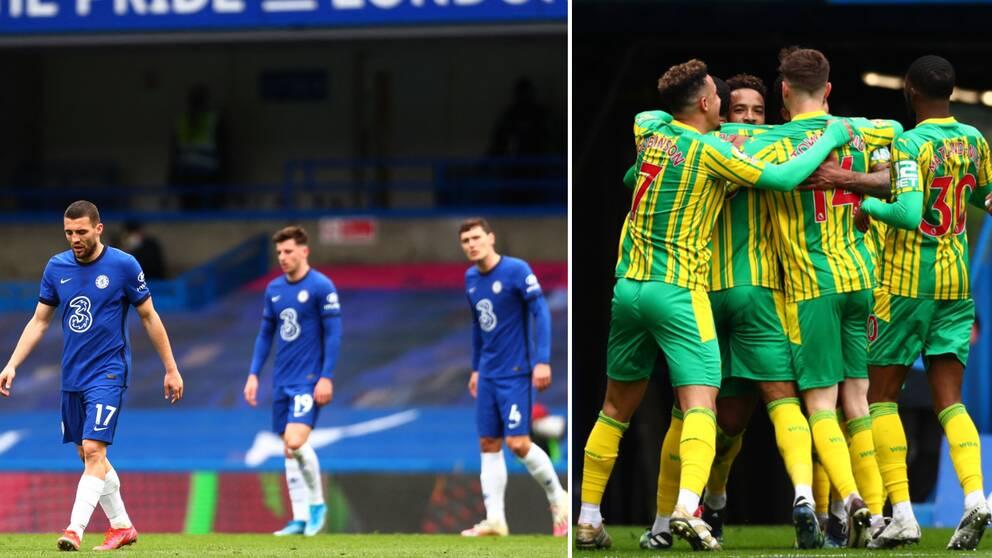 Chelsea föll med 5-2 mot West Bromwich.