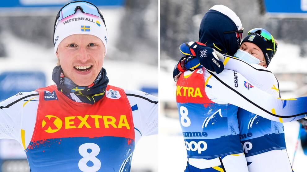 Oskar Svensson får bättre skidor efter succén i spåren.