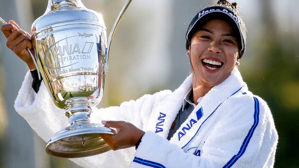 Thailändska Patty Tavatanakit vann ANA inspiration i Kalifornien.
