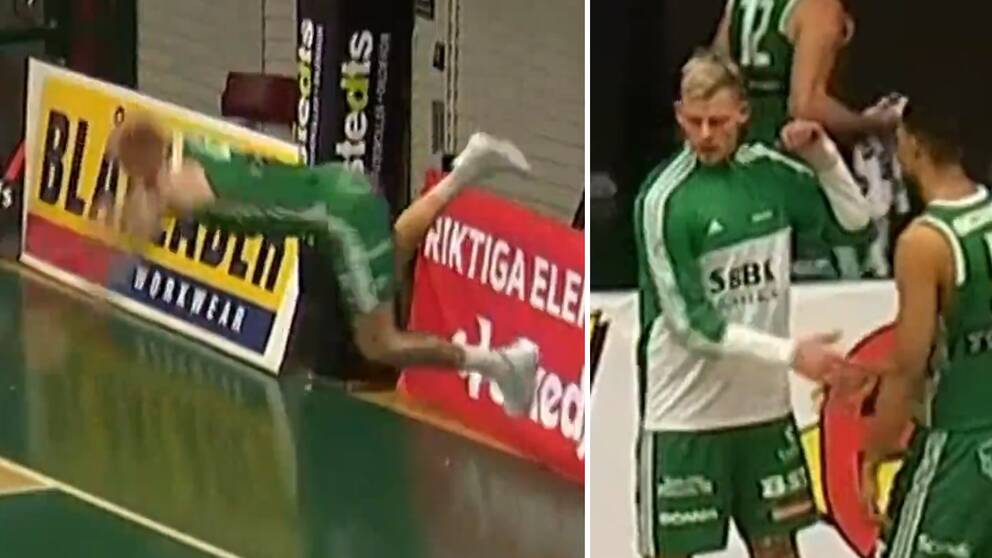 Södertäljes poängmaskin Viktor Gaddefors skadade sig olyckligt efter ett fall.