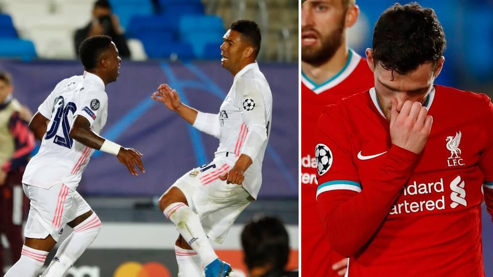 Vinicius Junior gjorde två mål mot Real.