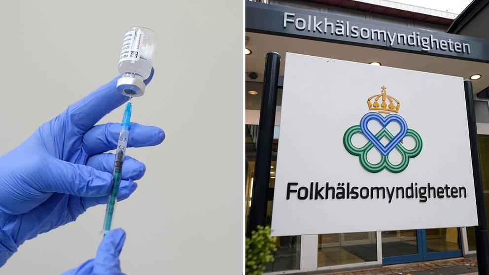 Astra Zenecas vaccin /Folkhälsomyndighetens lokaler i Stockholm