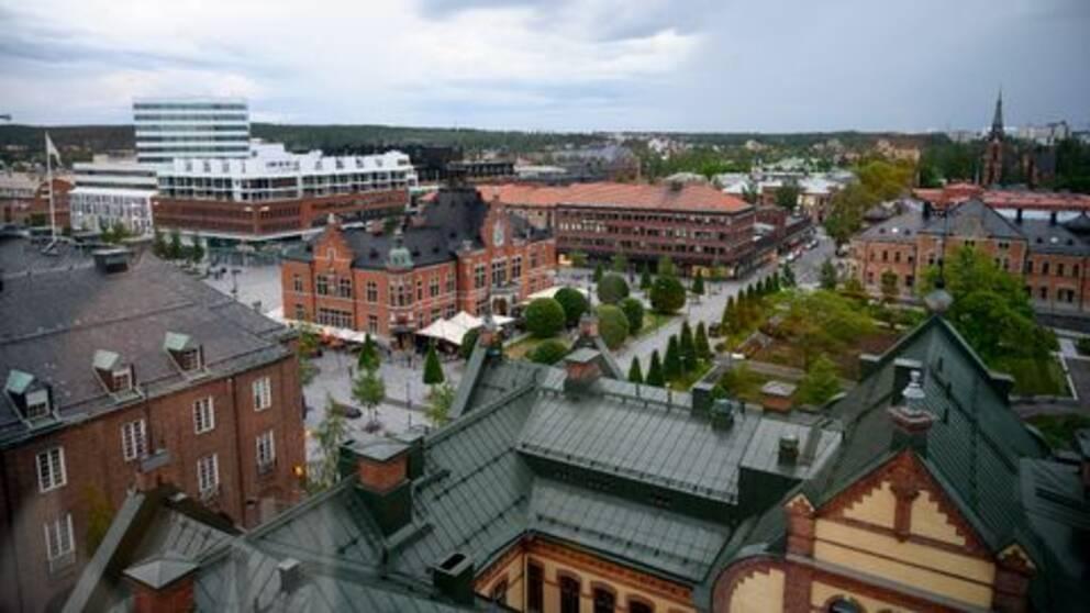 En översiktsbild över centrala Umeå.