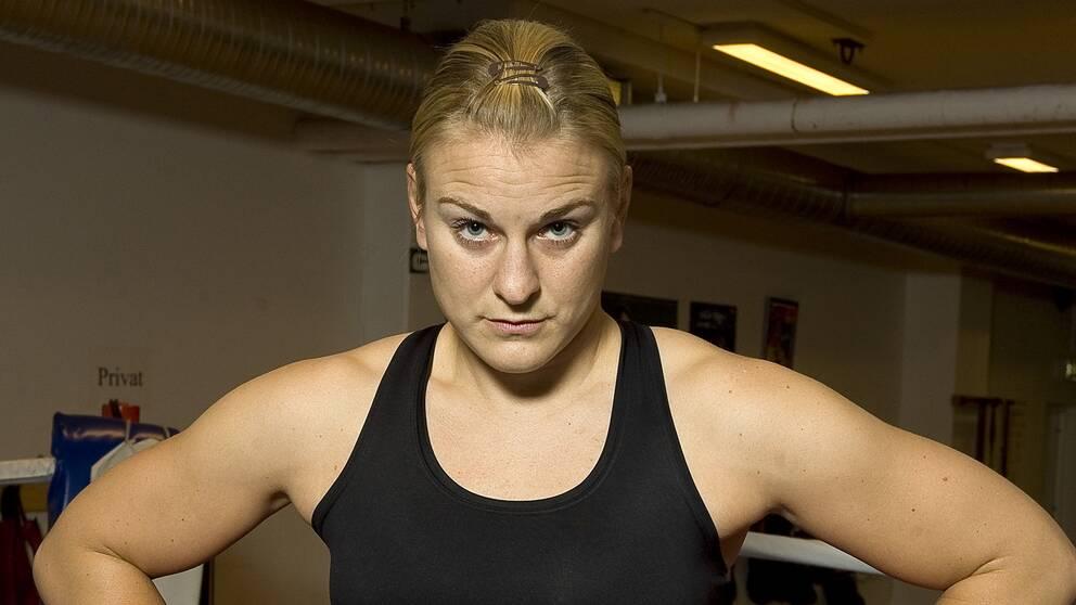 Ett porträtt från 2009 av boxaren Maria Lindberg. Arkivbild.