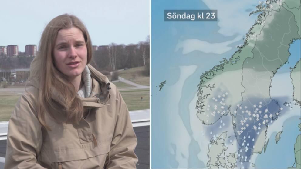 Tora Tomasdottir/väderkarta.