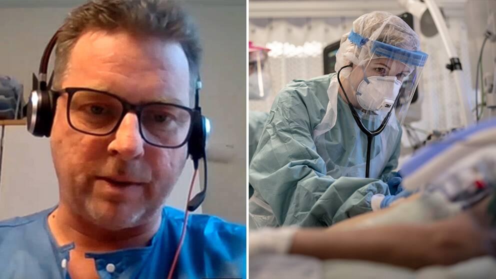 Jphnny Hillgren, intensivvårdsläkare och ordförande för Svenska intensivvårdsregistret.