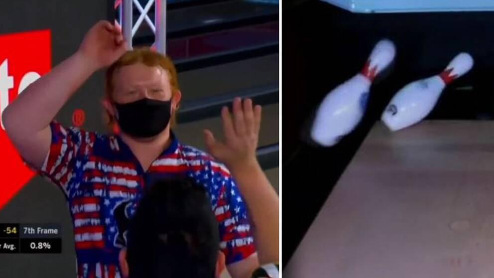 """18-årige Anthony Neuer, känd som """"The Ginger Assassin"""" slog till med ett sällsynt slag i bowlingens US Open."""