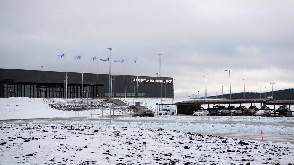 Scandinavian Mountains Airport i vinterskrud