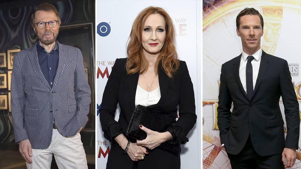 Björn Ulvaeus, J. K. Rowling och Benedict Cumberbatch