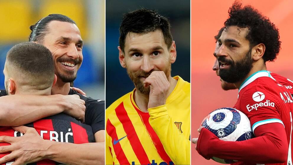 Zlatan Ibrahimovics AC Milan, Lionel Messis FC Barcelona och Mohamed Salahs Liverpool FC finns med bland de tolv klubbar som planerar lansera Super League.