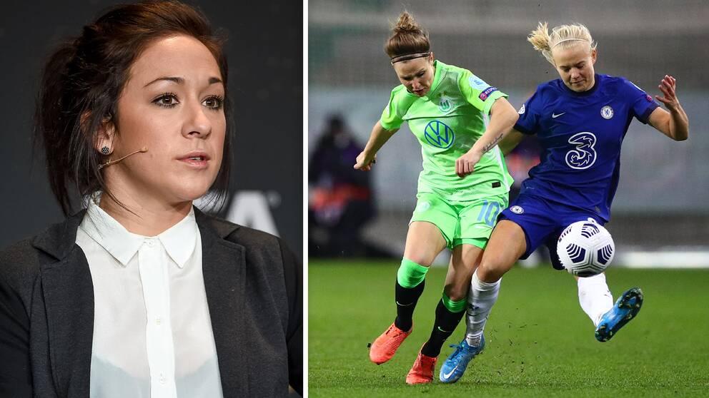 Nadine Kessler, damansvarig hos Uefa, vill inte att damlagen ska ingå i Super League-planerna.