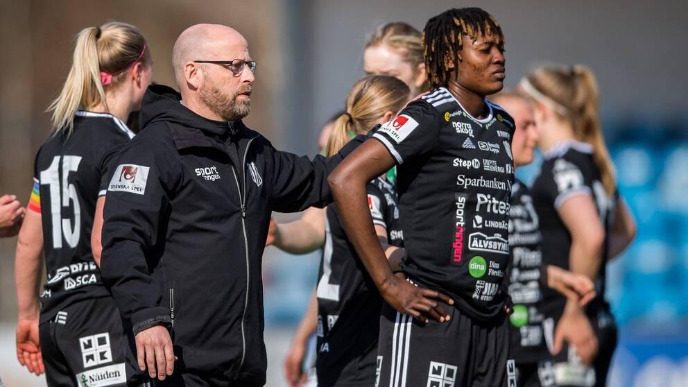 Piteås tränare Stellan Carlsson och Anam Imo