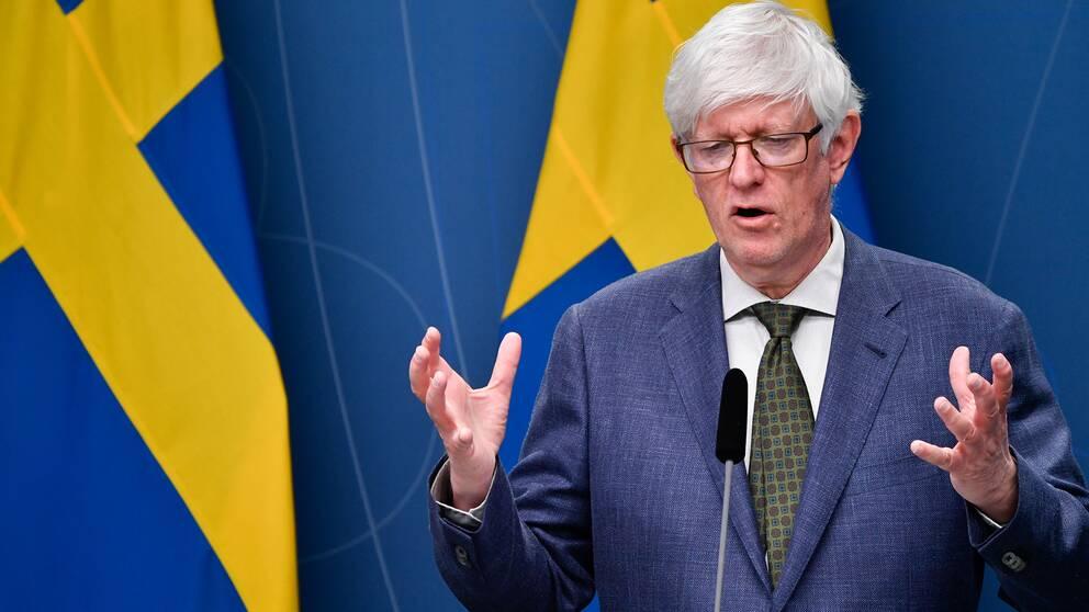 Folkhälsomyndighetens generaldirektör Johan Carlsson.