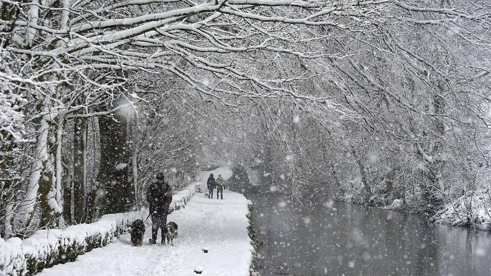 Vinter i Marsden i norra England.