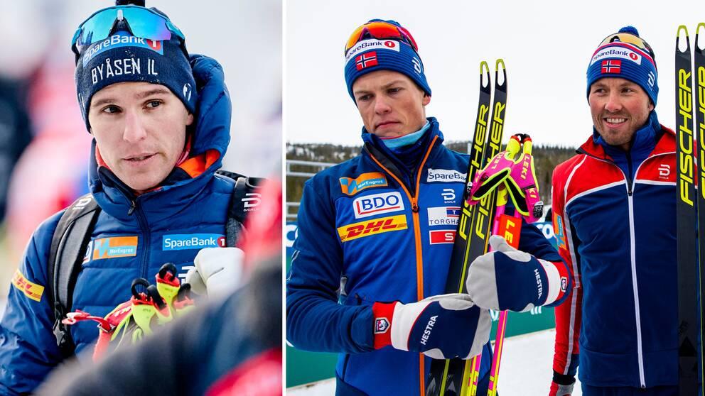 Didrik Tönseth, till vänster, tappar sin plats i norska landslaget.